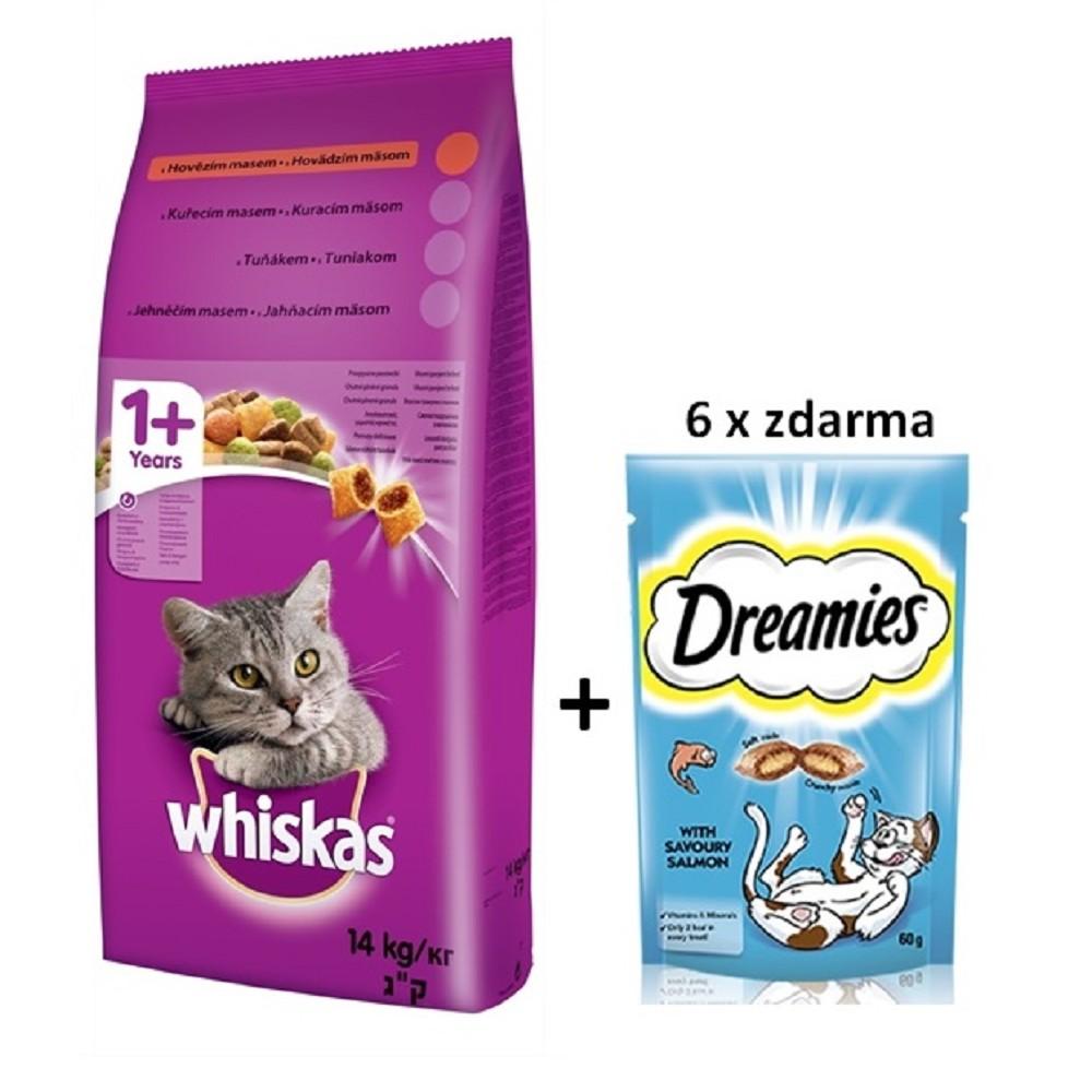Whiskas hovězí 14kg