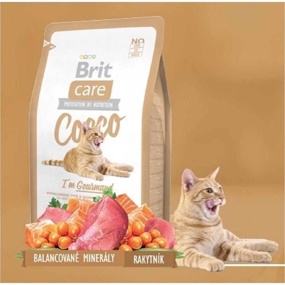 Brit care Cocco Gourmand kachna+losos  400g