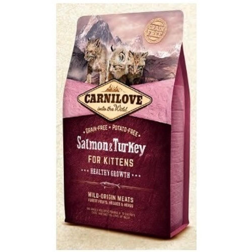 Carnilove losos s krůtou pro koťata 6kg