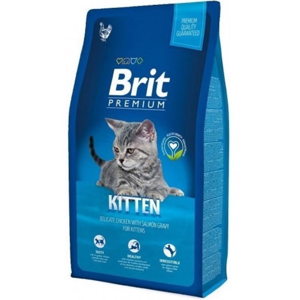 Brit premium kuře s losom pro koťata 300g