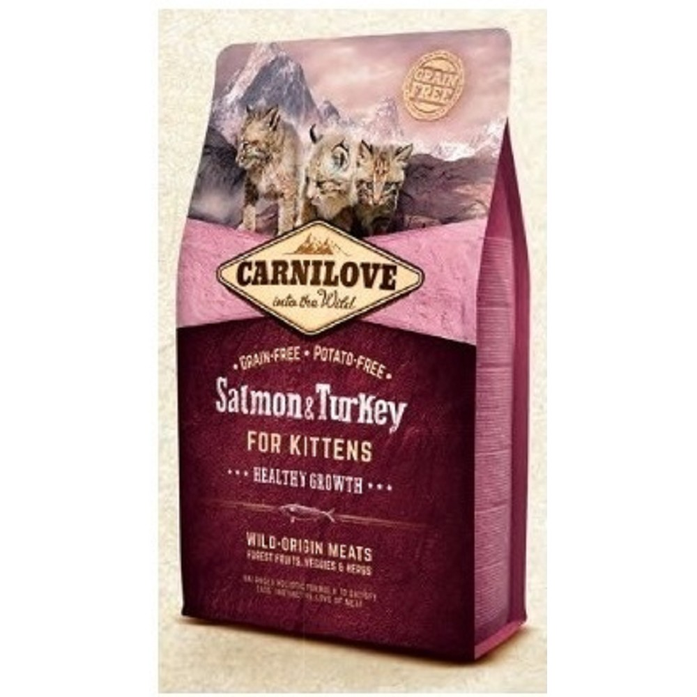 Carnilove losos s krůtou pro koťata 2kg