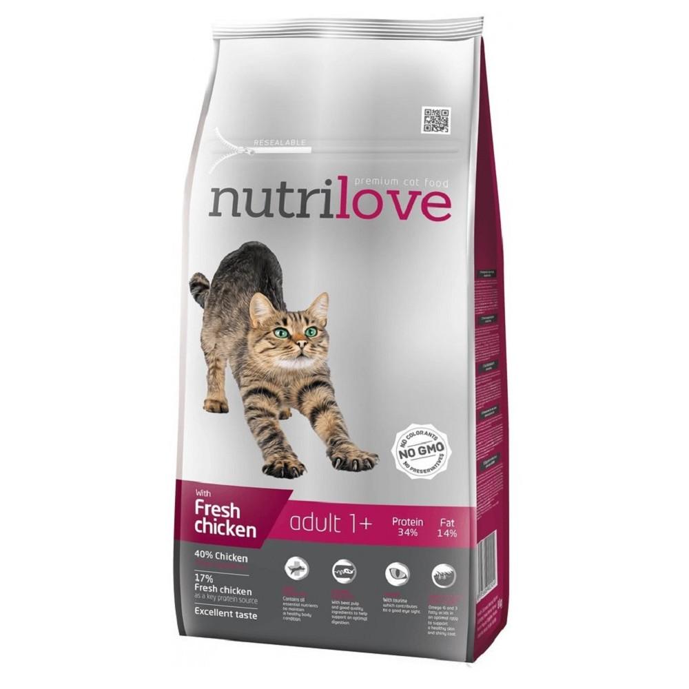 Nutrilove cat s čerstvým kuřecím 8kg