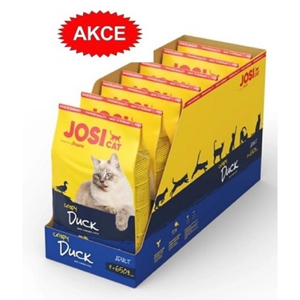 JosiCat Crispy Duck 7x650g  4 + 3 zdarma