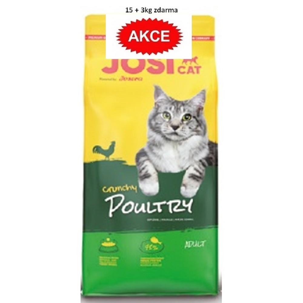 JosiCat Crunchy Poultry 15+3kg zdarma
