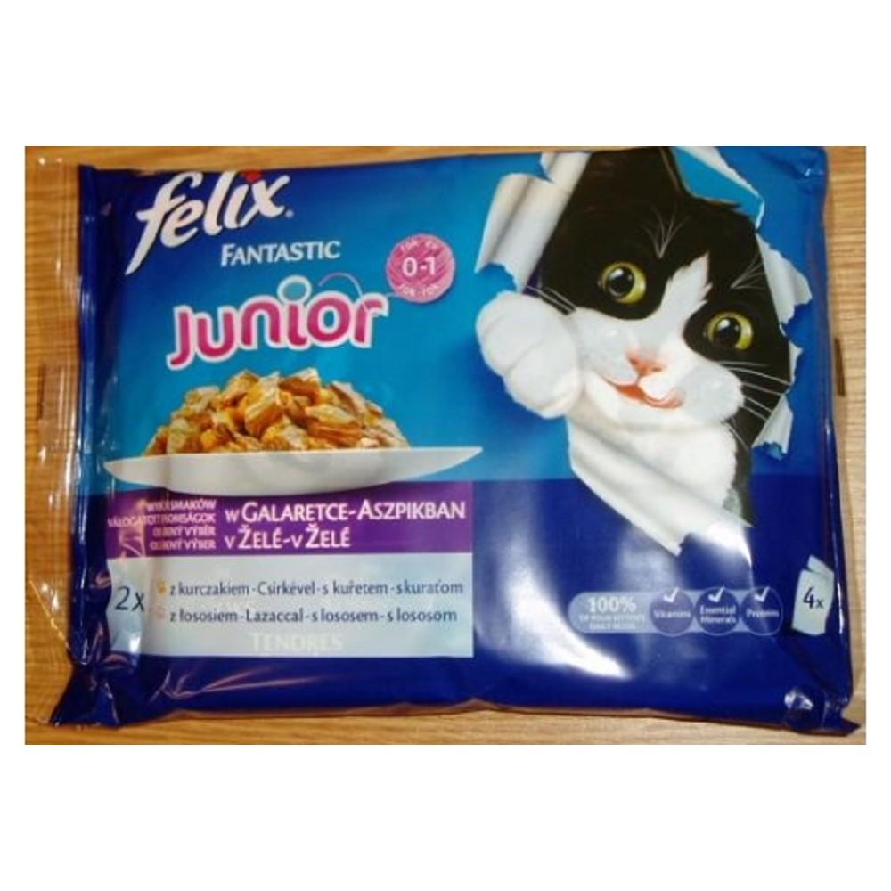 Felix kuřecí s lososem pro koťata 100g