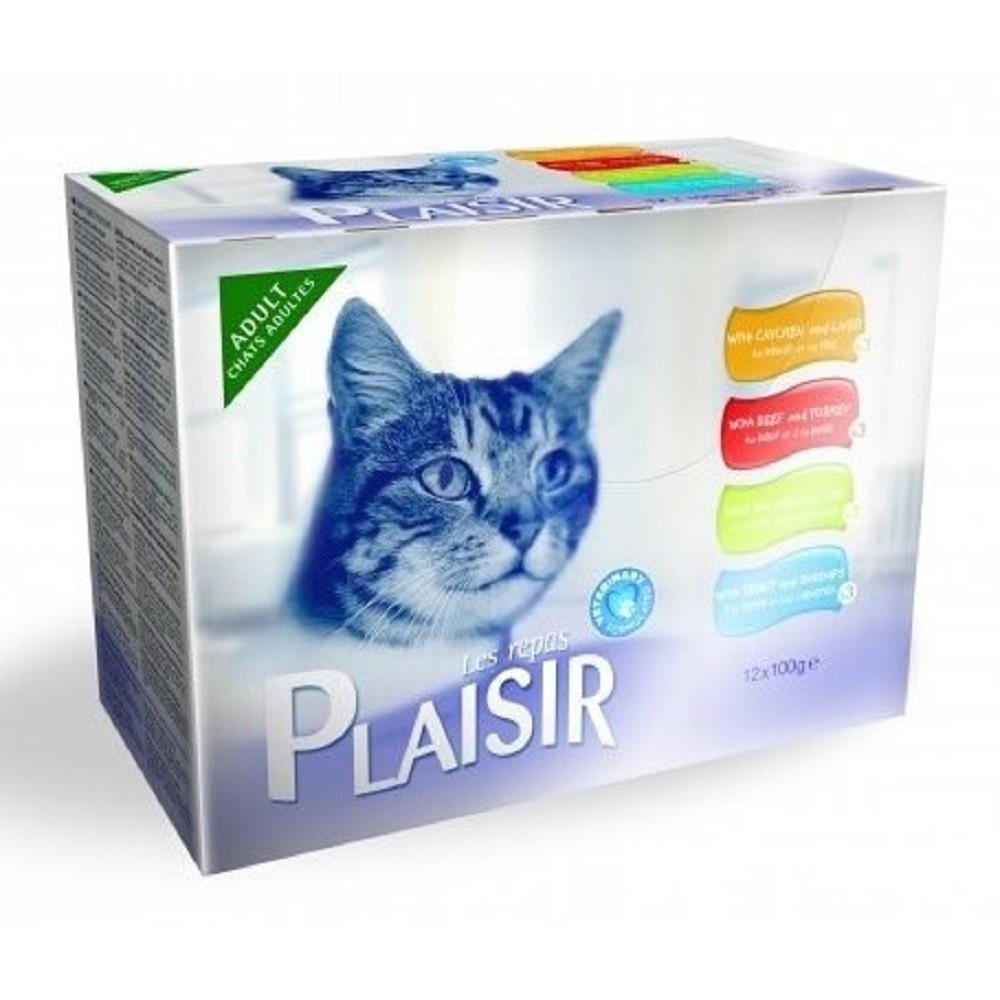 Plaisir cat 12x100g