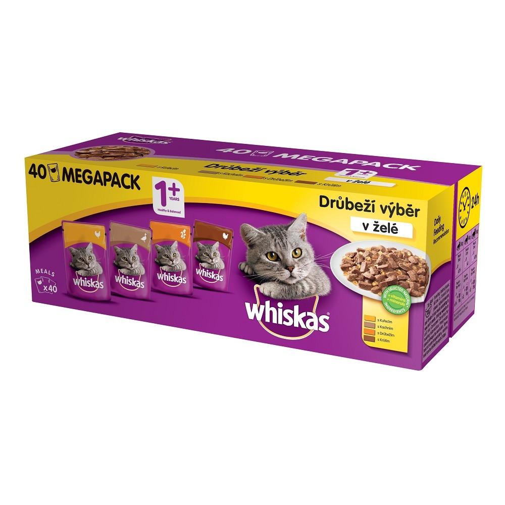 Whiskas kapsičky výběr v želé 40x100g