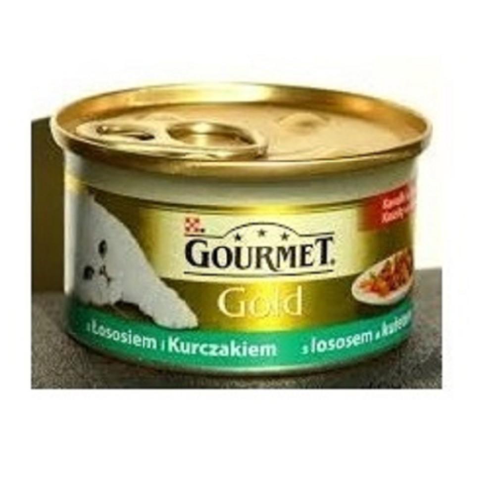 Gourmet gold losos s kuřetem 85g