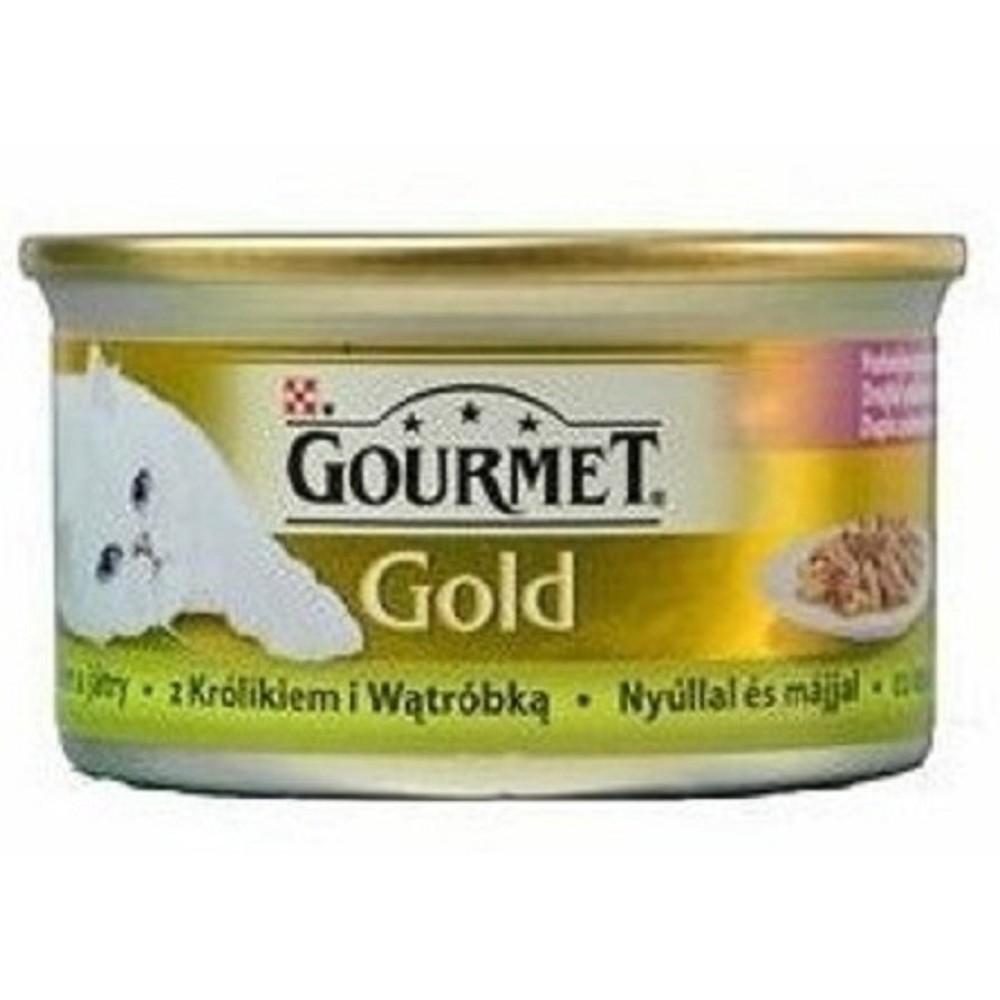 Gourmet gold králík s játrou 85g