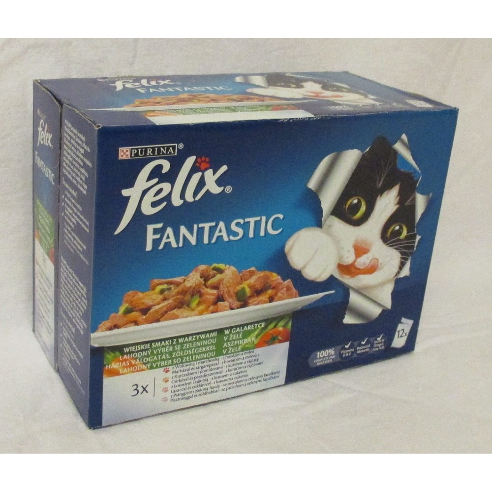 Felix mix s zeleninou v želé 12x100g