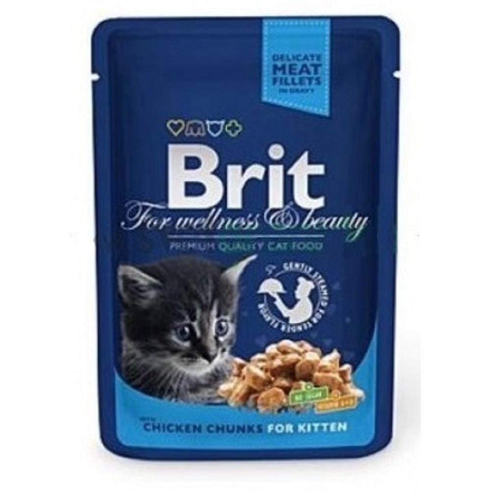 Brit premium kuřecí v omáčce pro kotě 100g