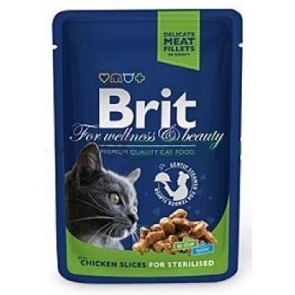 Brit premium kuřecí pro kastrované kočky 100g