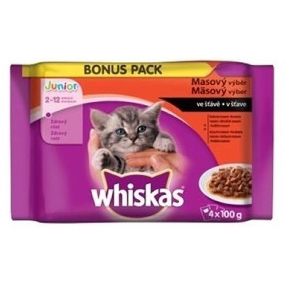 Whiskas masový výběr ve šťávě 4x100g