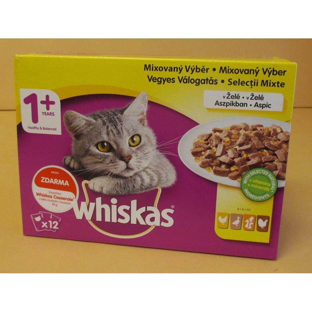 Whiskas drůbeží výběr v želé 12x100g