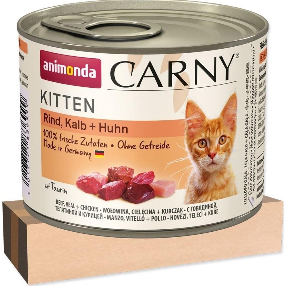 Animonda Carny telecí s kuřecím pro kotě 200g