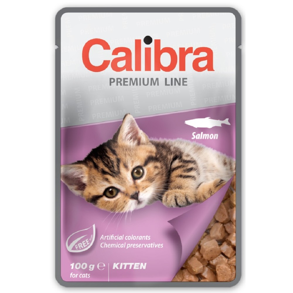 Calibra krůta s kuřetem pro koťata 100g
