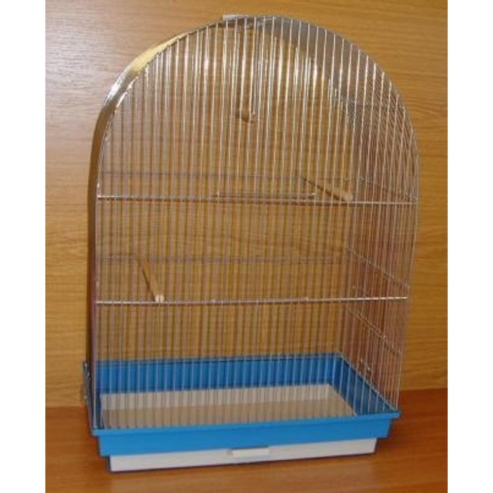 Klec pro papoušky - půlkulatá  48,5x29x69cm