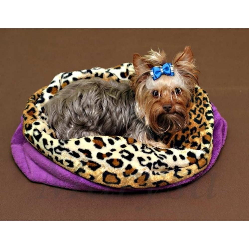 Spací pytel XL - fialová /leopard