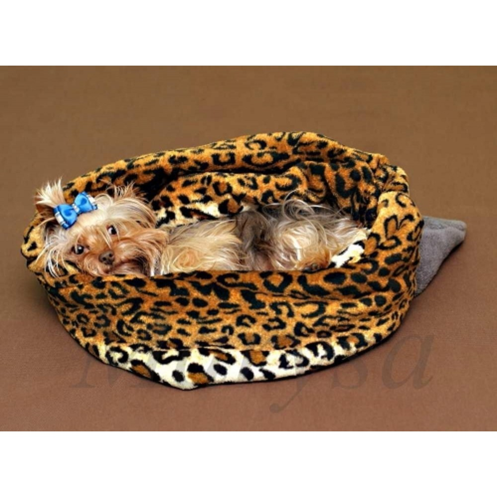 Spací pytel XL - šedá/leopard
