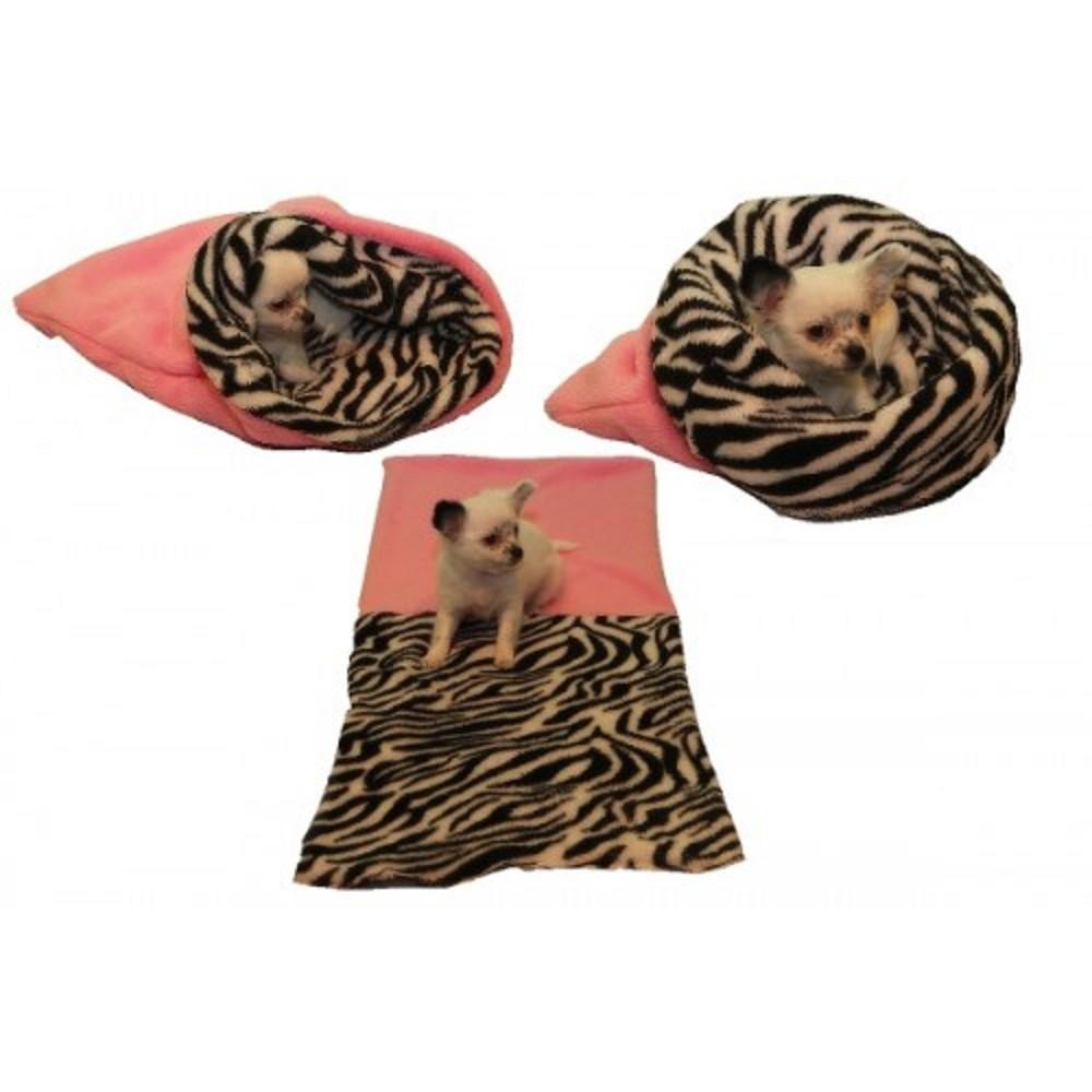 Spací pytel mini - světle růžová/zebra