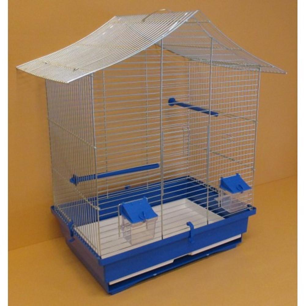 Klec pro papoušky - stanová střecha 54,5x40x63cm