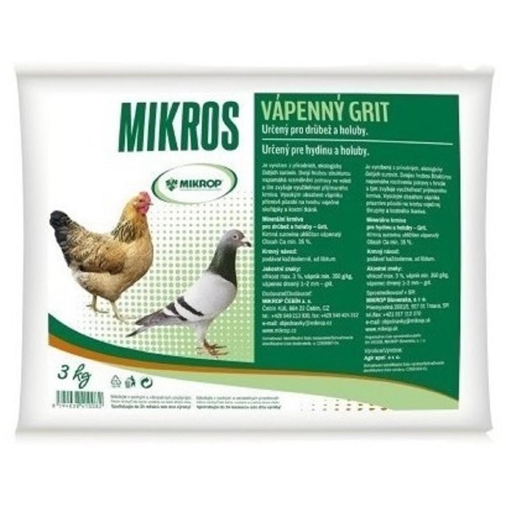 Vápenný grit pro drůbež a holuby 3kg