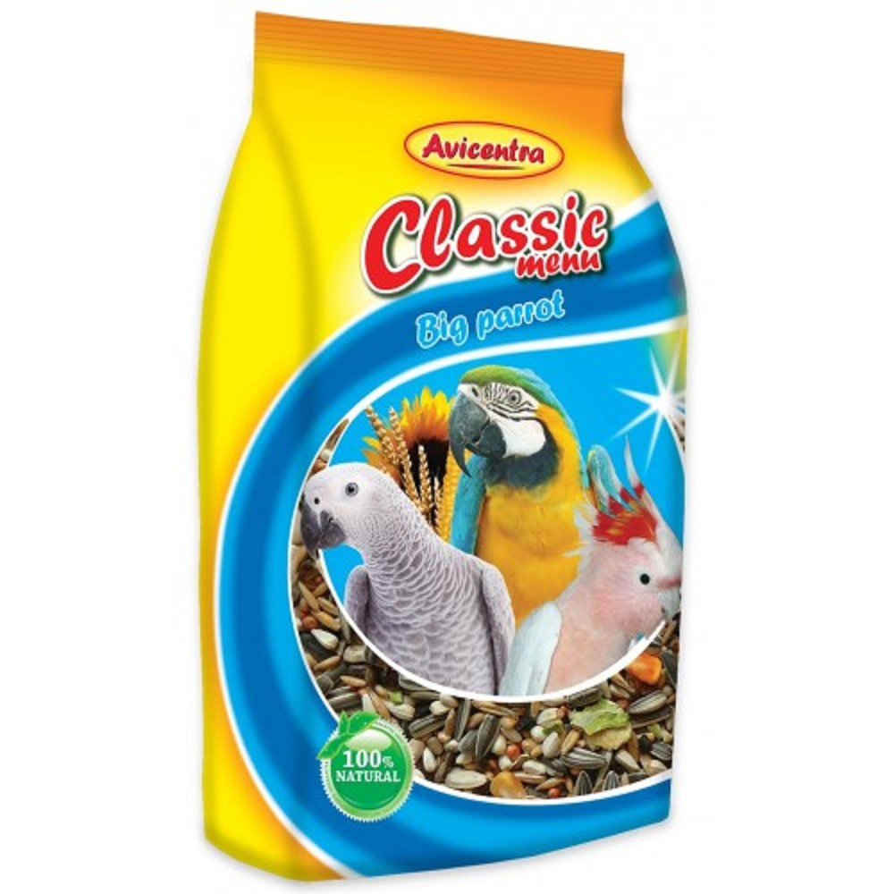 Avicentra classic velký papoušek 1000g