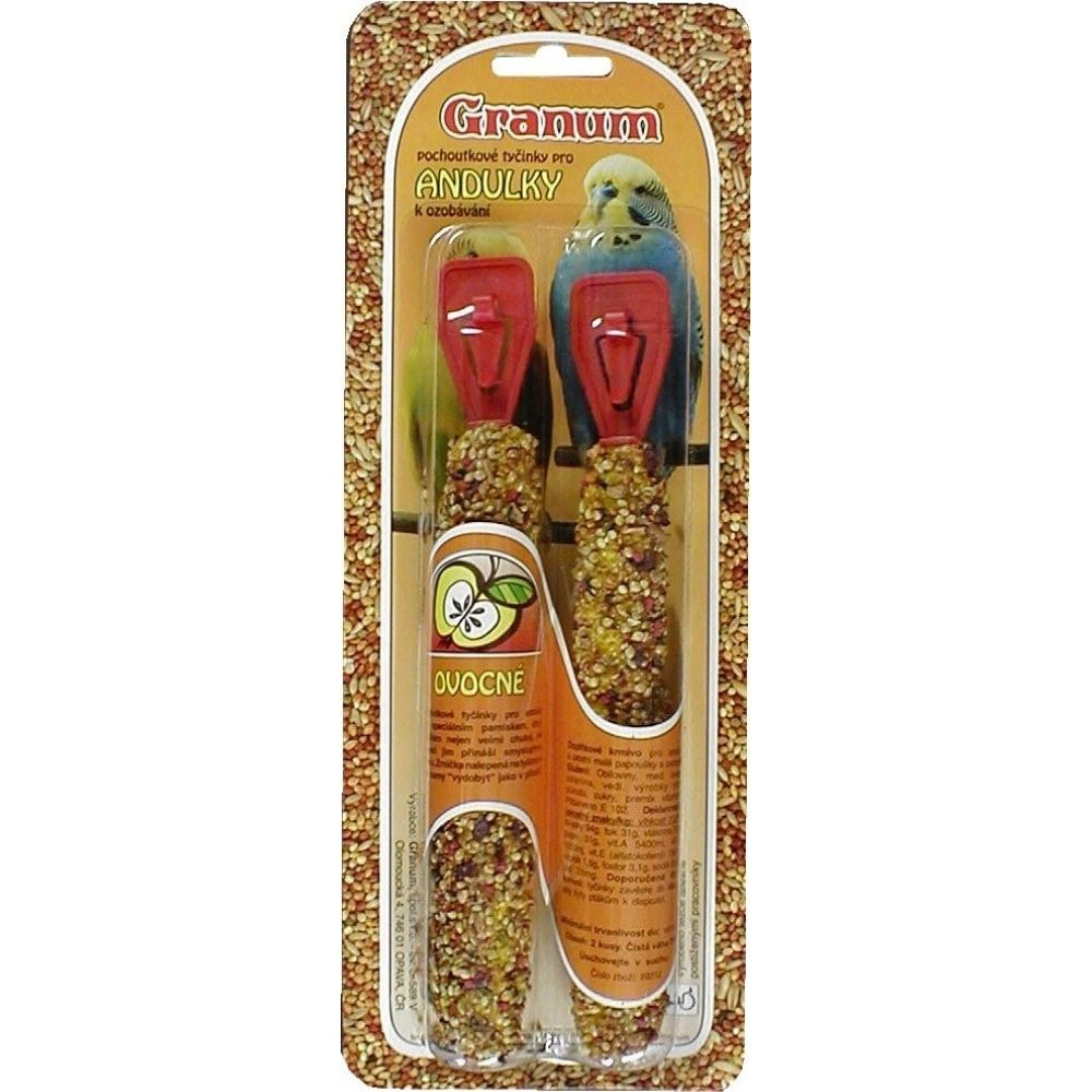 Granum tyč pro andulky - ovocná 2ks
