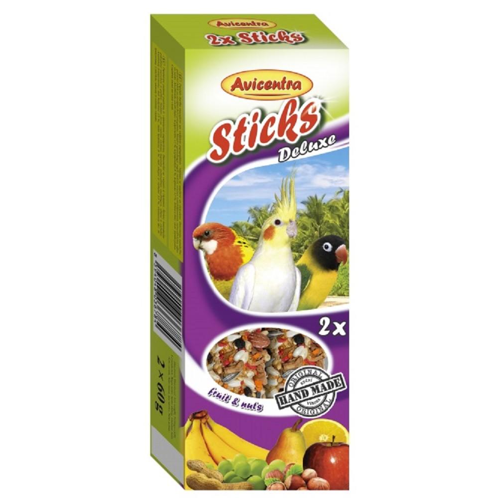 Avicentra tyč pro papoušky - ovoce s ořechy 2ks