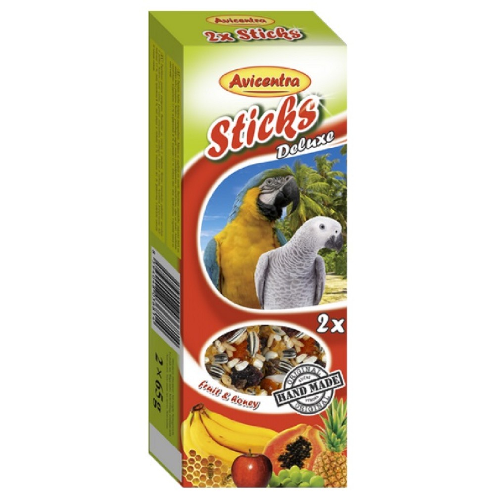 Avicentra tyč pro papoušky - ovoce s medem 2ks