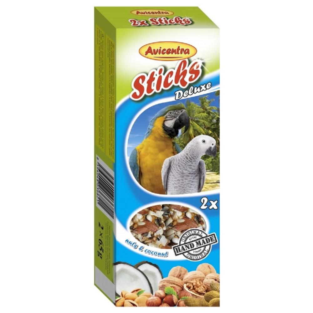 Avicentra tyč pro papoušky - ořechy s kokosem 110g