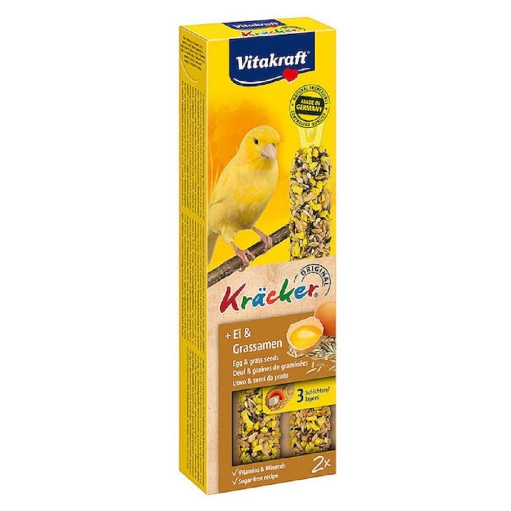 Kräcker tyč. kanár vejce+trávové semínko 2ks/10ks/bal.
