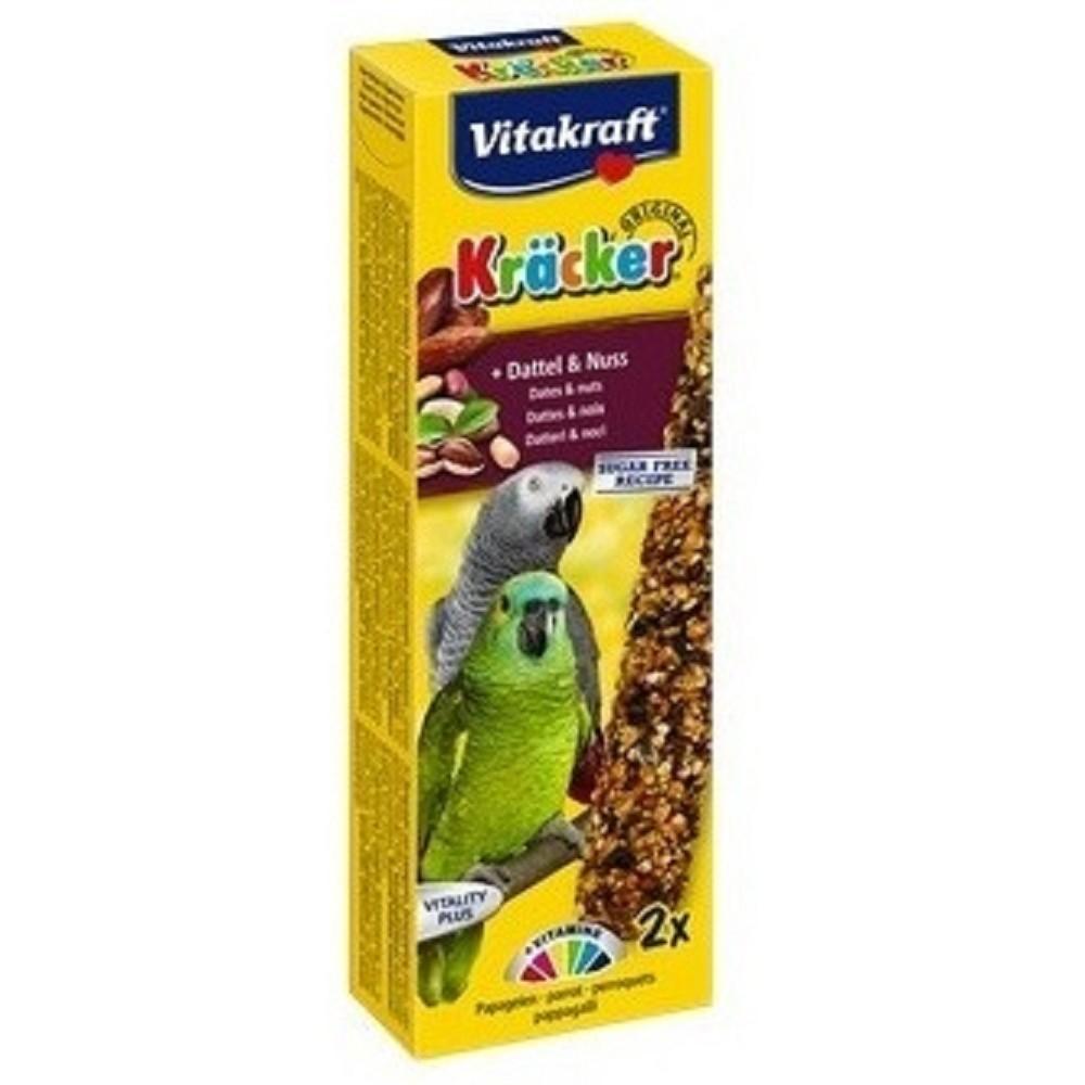 Kräcker tyč pro velké papoušky - datle s ořechem 2ks