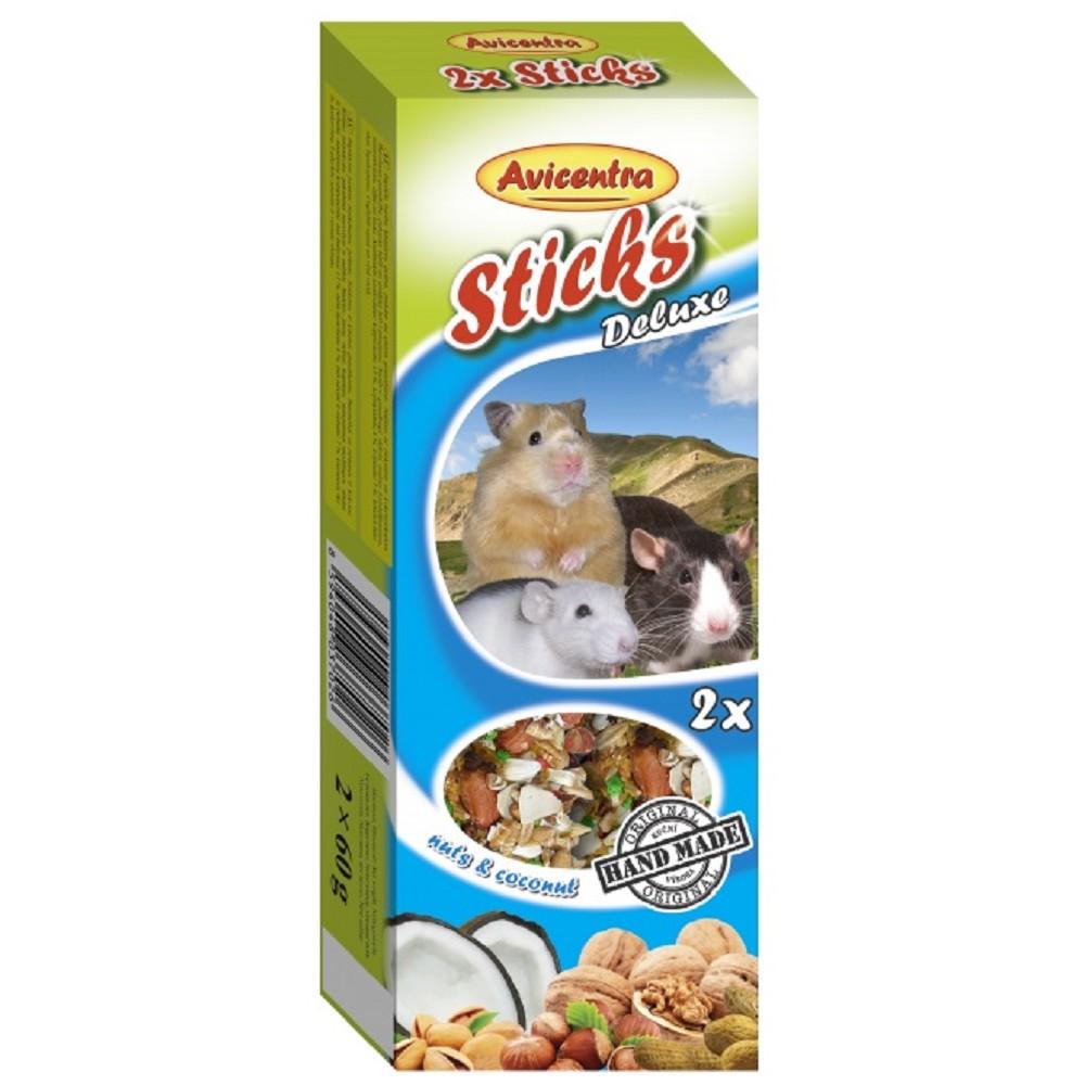 Avicentra tyč pro hlodavce - ořech+kokos 2ks