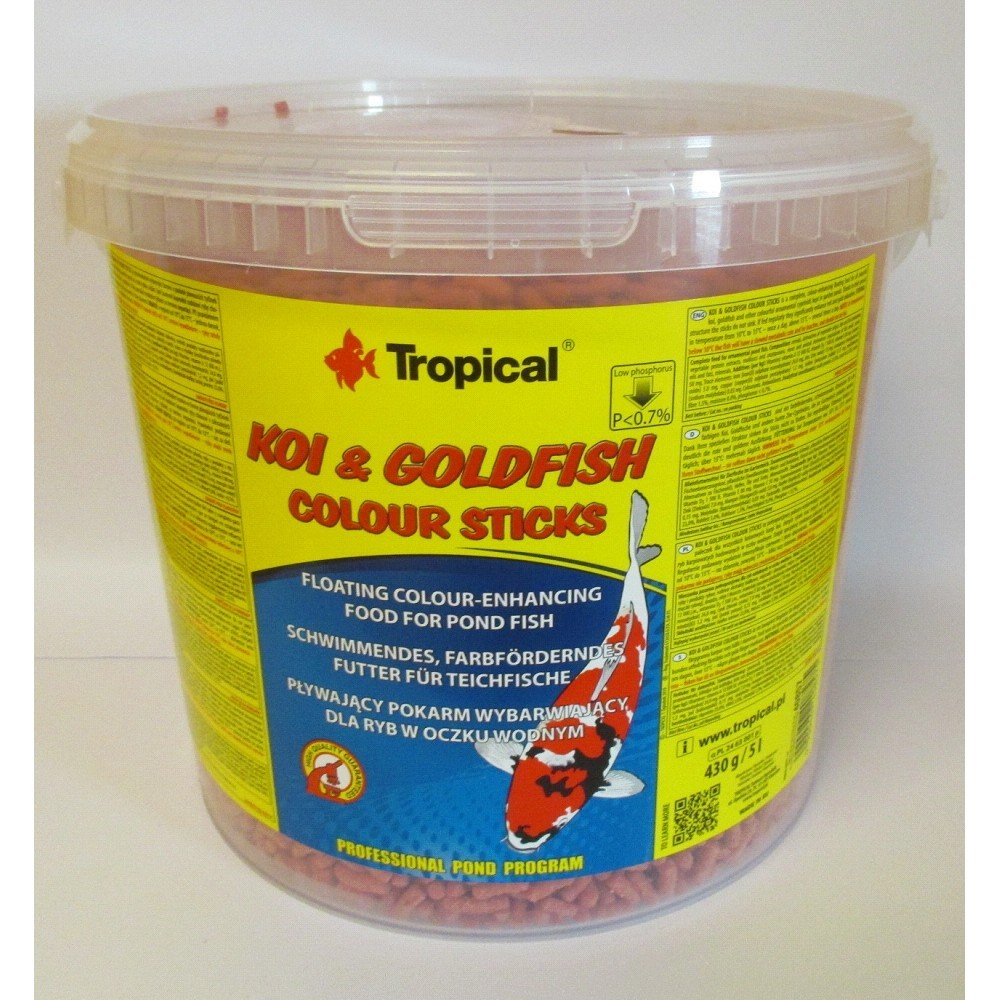 Tropical Koi-Goldfish Colour Stick 5l/430g