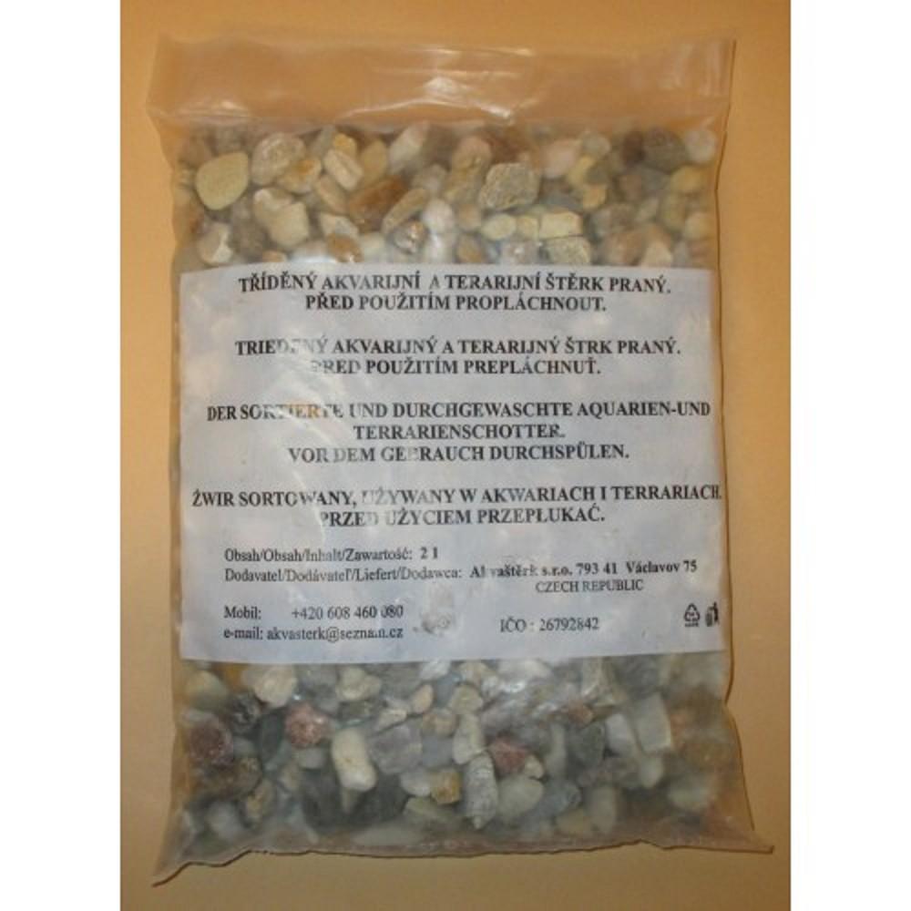 Akvarijní štěrk -  přírodní hrubý 2l