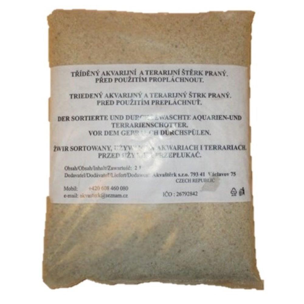 Akvarijní písek - bílý křemičitý 2l
