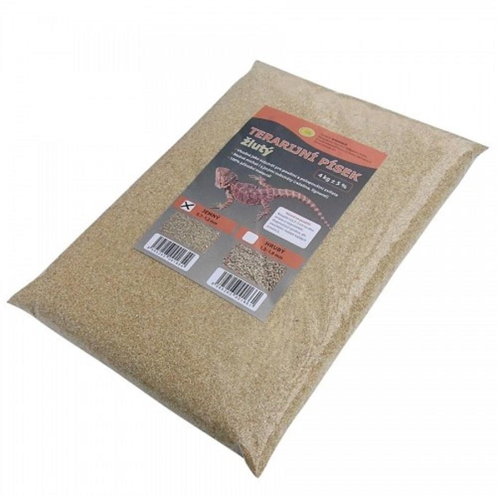 Terarijní písek žlutý 4kg jemný Robimaus