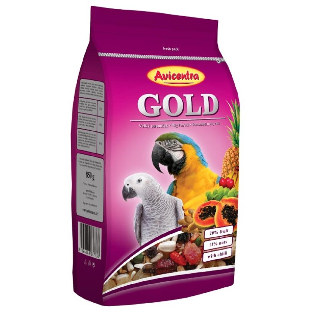 Avicentra gold velký papoušek 850g