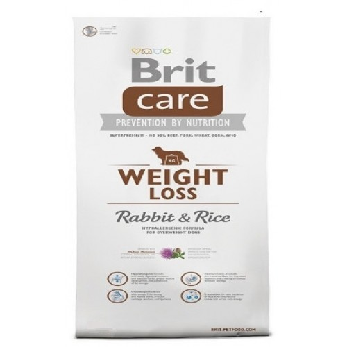 BRIT CARE 1,0KG WEIGHT LOSS RABBIT+RICE