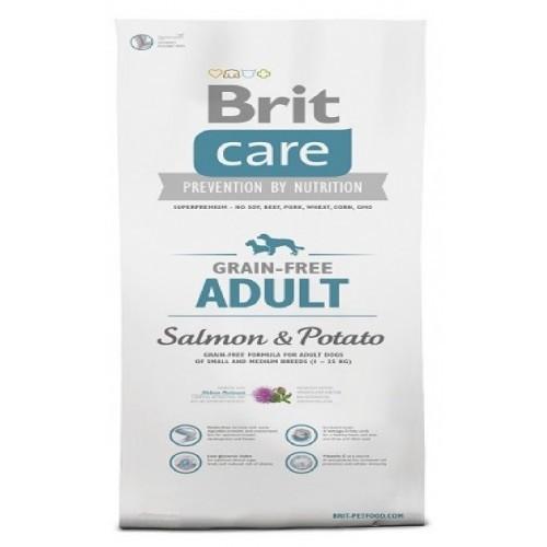 BRIT CARE 1,0KG ADULT GRAIN-FREE SALMON & POTATO