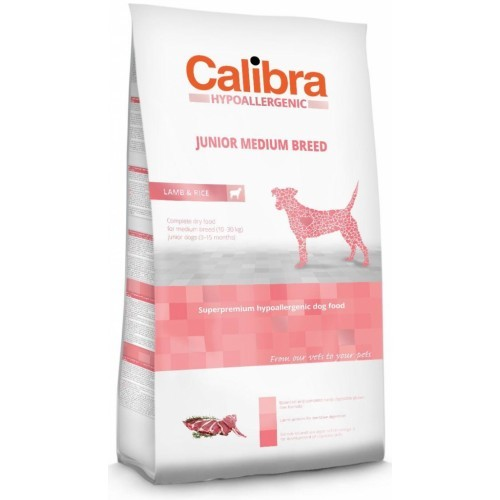Calibra Dog Junior Medium Breed Lamb 14 kg