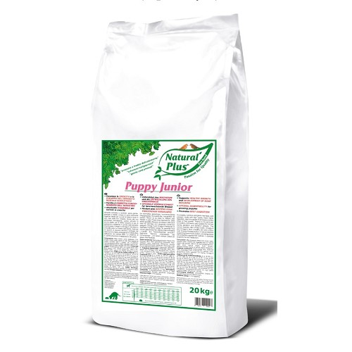 Natural Plus Puppy Junior 20kg lisováno za studena