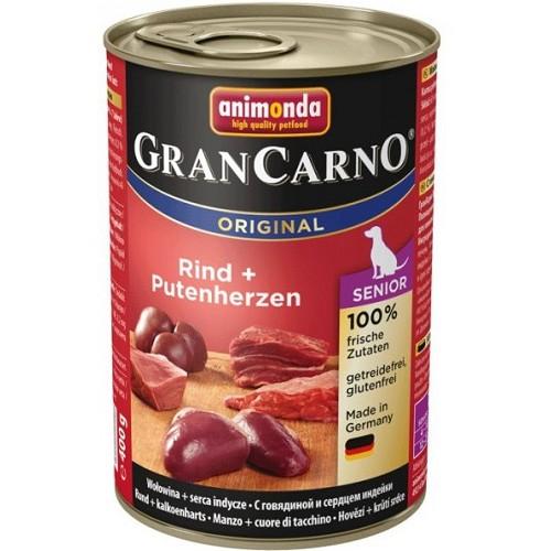 Animonda Gran Carno Senior hovězí, krůtí srdce 400 g