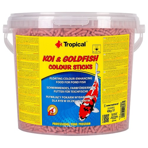 Tropical Koi-Goldfish Colour Stick 5l/430g  kbelík